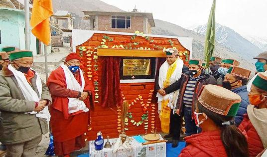 किन्नौर : लबरंग गांव के 1390 लोगों को पेयजल की कमी से मिलेगी निजात